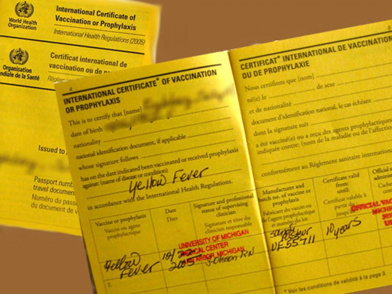 Preguntas sobre Vacunacion Fiebre Amarilla